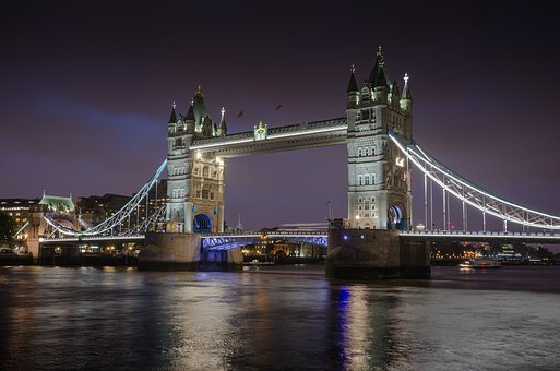 Tower Bridge, London, Night, Landmark