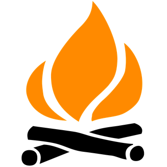 Fire, Icon, Make Fire, Campfire, Wilderness, Outdoor