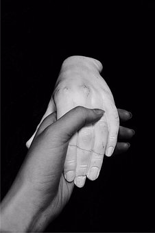 People, Hand, One, Handshake, Man, Stone, Gypsum