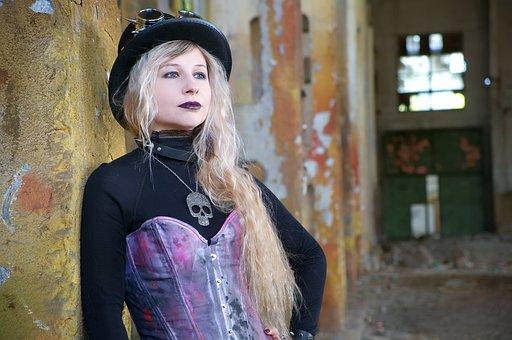 Portrait, People, Woman, One, Steampunk, Punk