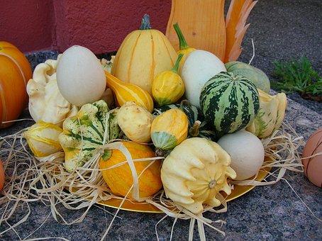 Food, Pumpkin, Vegetables, Basket, Background