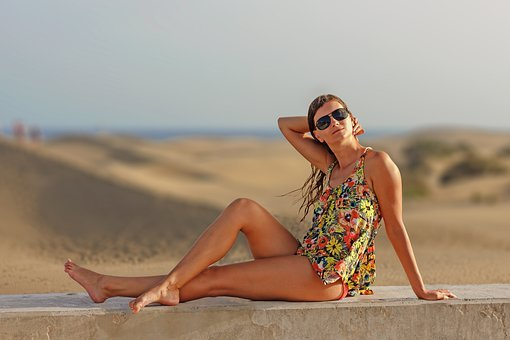 Woman, Young Woman, Legs, Sexy, Sand, Summer, Beach