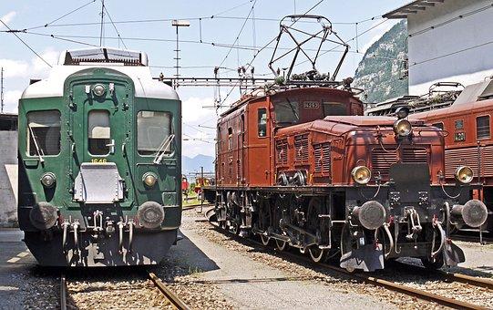 Switzerland, Depot Of Erstfeld, Sbb Historic