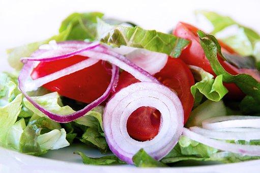 Salad, Greet, Food, Leaf, Vegetable, Onion, Tomatoes