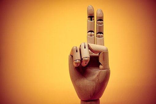 Gesture, Hand, 2, Two, Finger, Fingers, Thumb, Wood