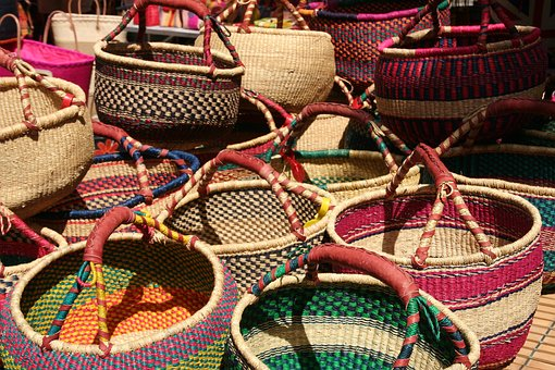 Basket, Wicker, Traditional, Hand-made, Weave
