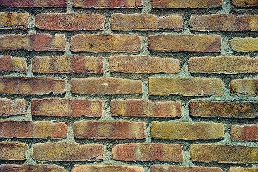 Brick Wall, Wall, Brick, Yellow Brick Wall, Masonry