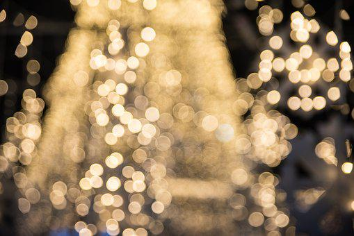 Christmas, Desktop, Abstract, Blur, Pattern, Gold