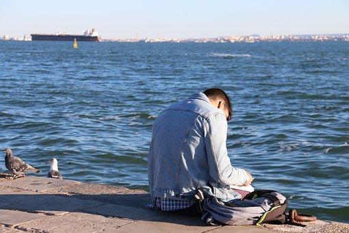 Mar, Body Of Water, Beach, Ocean, Trip, Relax, Reading