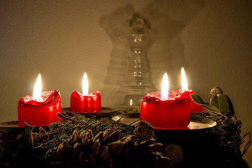 Candle, Candlelight, Christmas, Flare-up, Wax