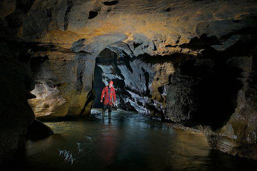 Cave, Underground River, Potholing, Limestone, Doubs