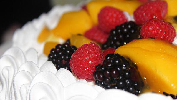 Fruit, Sweet, Food, Delicious, Raspberry, Pavlova