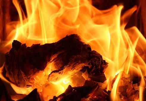 Flame, Fireplace, Heat, Hot, An Outbreak Of, Fire, Burn