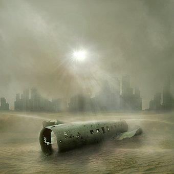 End Time, Forward, War, Bleak, Fog, Landscape, Rain