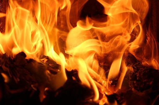 Flames, Heat, Hot, Fireplace, Burn, Light, Glow, Fire
