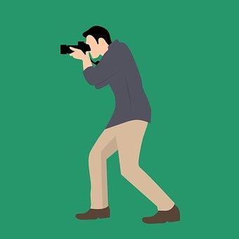Photographer, Camera, Guy, Man, Model, Tourist, Pose