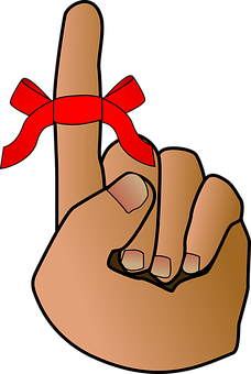 Reminder, Bow, Red Ribbon, Hand, Symbols, Knot, Event