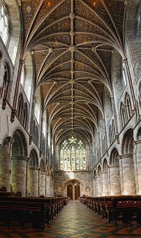 Church, Cathedral, Architecture, Religion, Hereford