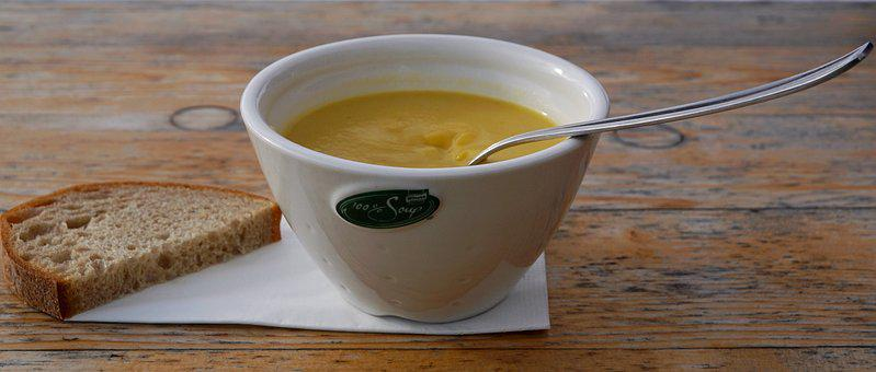 Food, Bowl, Spoon, Hot, Healthy, Cup, Wood, Woods, Soup