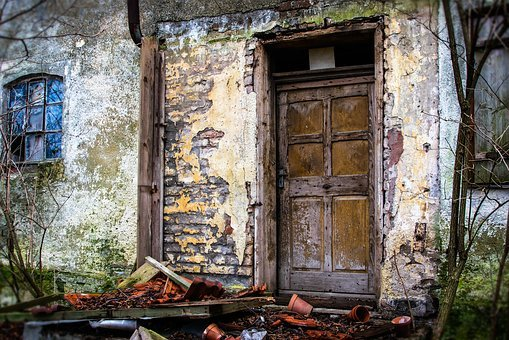 Door, Input, House Entrance, Lost Places