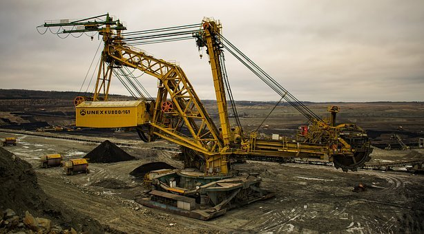 Machine, Excavator, Coal Mining, Industry, Mines