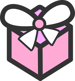 Present, Gift, Birthday, Bow, Pink, Wrapped, Tied, Knot