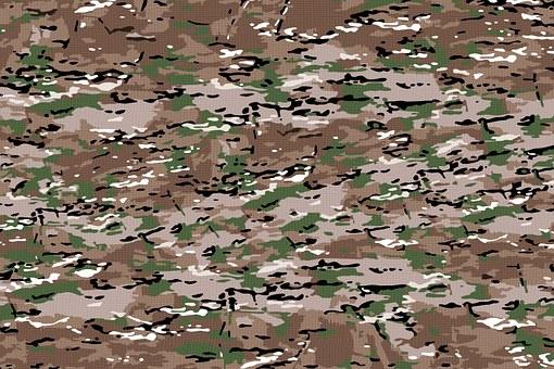 Fabric, Camo, Protective Fabric, Plain, Army, Hunter