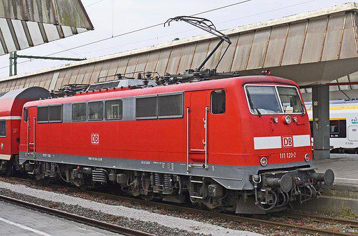 Railway, Transport System, Train, Electric Locomotive