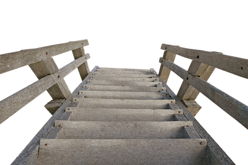 Wood Stairs, Gradually, Stairs, Emergence, Rise, Wood