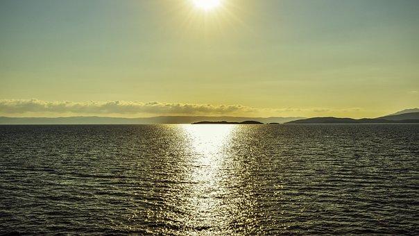 Sunrise, Sea, Nature, Dawn, Sky, Horizon, Sunlight