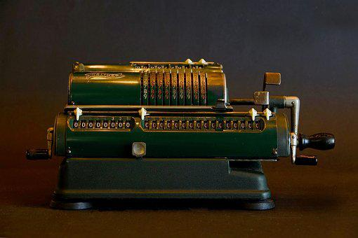 Machine, Calculating Machine, Old, Metal, Technology