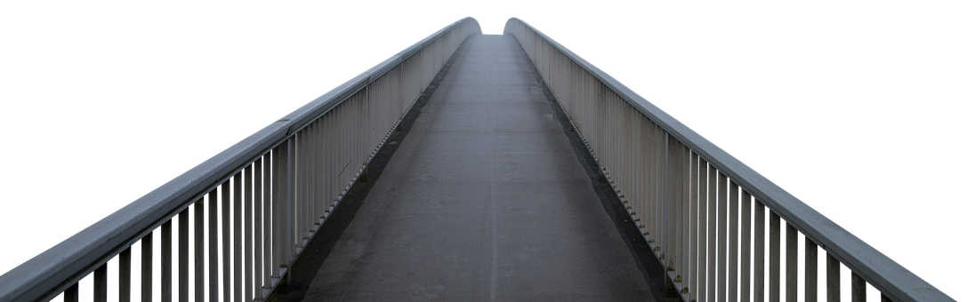 Bridge, Transition, Steel, Railing, Architecture