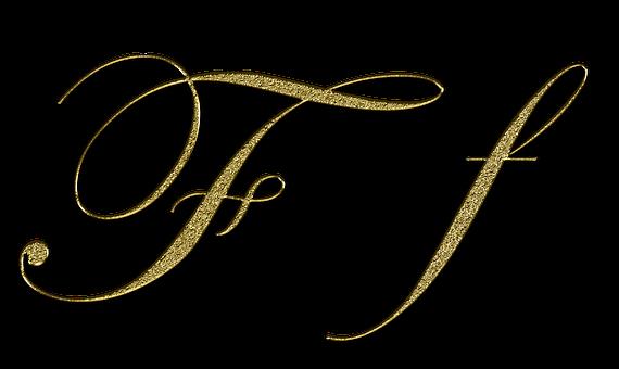 Letter, F, Gold, Font, Letter F, Write, Type, Fonts