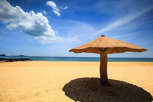 Vietnam, The Beach, Car, The Sea, Background, Summer