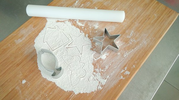 Wood, Wooden, Pe Rolling Pin, Flour, Fish Cutting Die