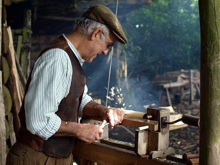 People, Adult, Man, Artisan, Skill, Wood Turner