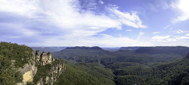 Blue Mountain, Sydney, Australia, Panoramic, Nature
