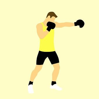 Boxer, Kickboxing, Boxing, Punch, Isolated, Cross, Body