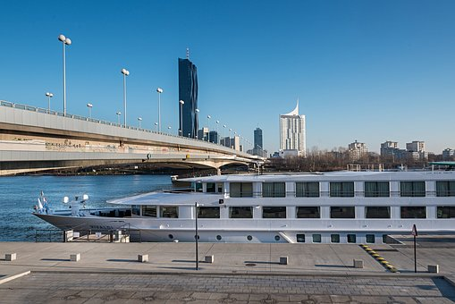 Travel, City, Vienna, Ship, Bridges, Danube