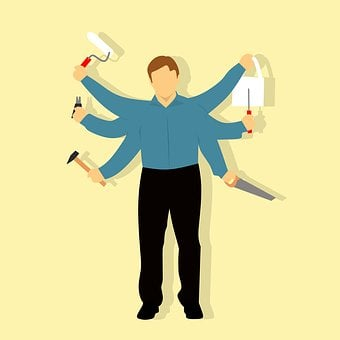 Construction, Worker, Contractor, Brush, Bucket