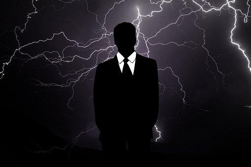 Businessman, Crisis, Rain, Flash, Bear Market, Business