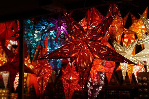 Star, Christmas, Light, Christmas Market, Lighting