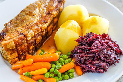 Crust Roast, Meat, Food, Dinner, Meal, Plate