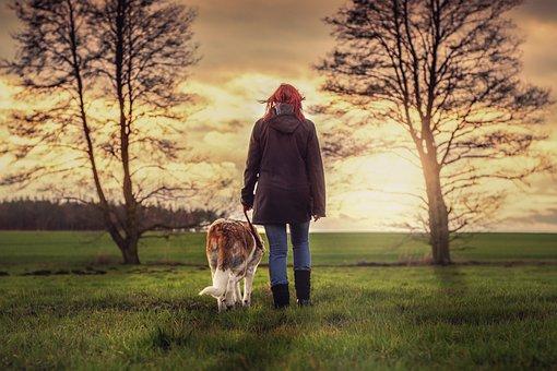 Landscape, Human, Dog, Friends, Nature, Mood, Together