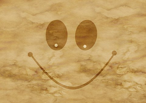 Paper, Parchment, Smilie, Smile, Friendly, Stains, Old