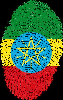 Ethiopia, Flag, Fingerprint, Country, Pride, Identity
