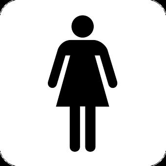 Restroom, Bathroom, Sign, Ladies, Women, Symbol, Woman