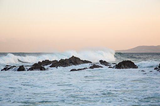 Sea, Waves, Jung Dong-jin, Winter Sea, Rock, Beach