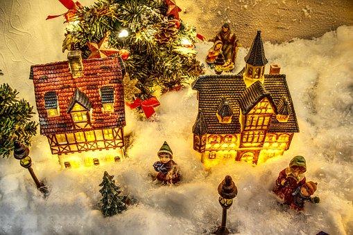 Human, Christmas, Model, Christmas Village, Snow, Art