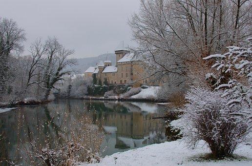 Winter, Snow, Cold, Frost, Frozen, Castle, Rent, Cléron